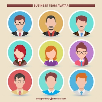 Business team avatar collection