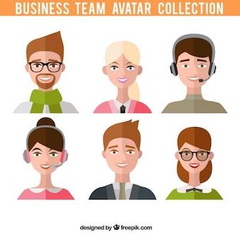 비즈니스 팀 아바타