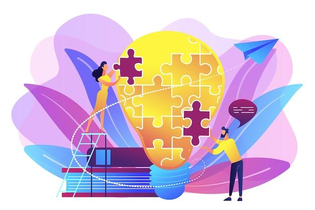 ビジネスチームのブレインストーミング。ビジョンステートメント、ビジネスと会社の使命、事業計画の概念