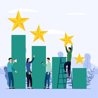 Business team and competition, achievement, successful, challenge, business concept vector illustration