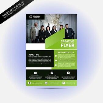 Business team concept flyer