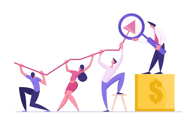 Бизнес-команда концепции иллюстрации