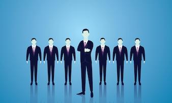Business team leader concept