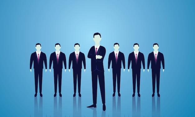 ビジネスチームリーダーコンセプト