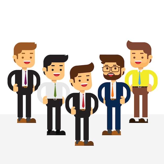 Бизнес-команда сотрудников и босс