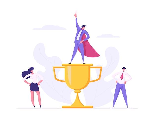 Деловой дух команды творческий успех сотрудничества концепция иллюстрации