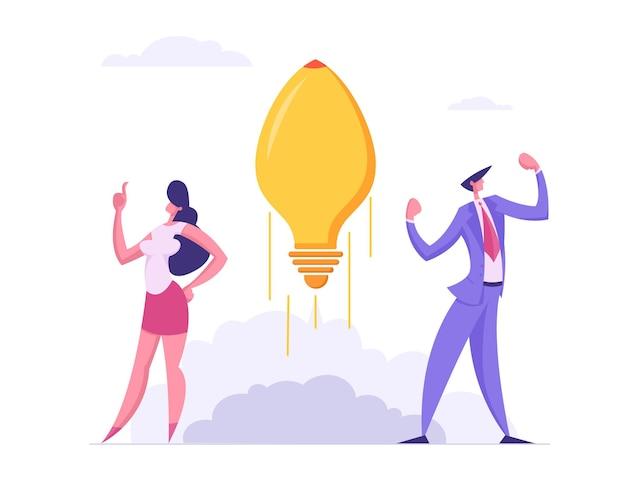 ビジネスチームスピリットサクセススタートアップコンセプトイラスト