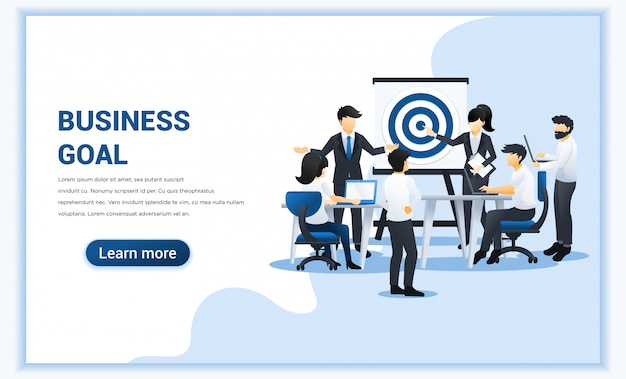 Business team work concept design. people working on table with dartboard target.
