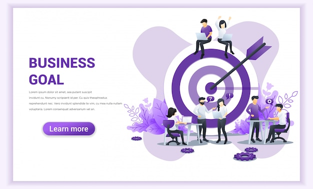 Business team work concept. target with an arrow, hit the target, goal achievement. flat vector illustration