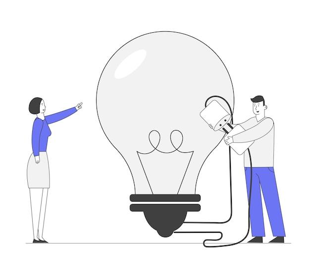 창의적인 아이디어를 찾는 프로젝트에 대한 비즈니스 팀 작업