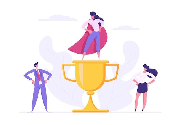 비즈니스 팀워크 성취 성공 협력 개념 그림