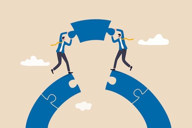 비즈니스 팀워크와 파트너십 개념