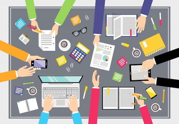 Бизнес концепция совместной работы