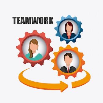 Business teamwork design.