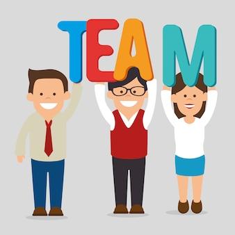 Business teamwork graphic