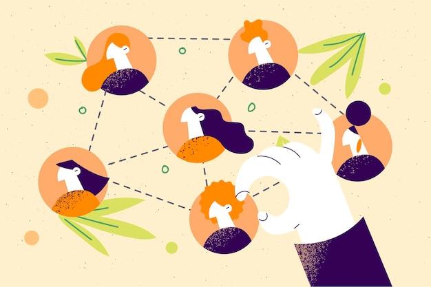 비즈니스 팀워크 계획 성공 개념입니다.