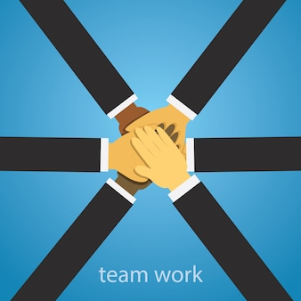 Business teamwork team hard work concept