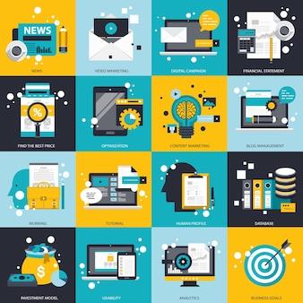비즈니스 기술 및 관리 설정 그림