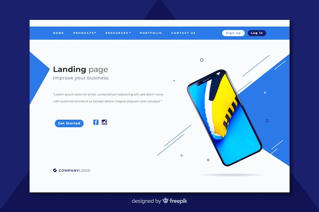 Business technology landing page