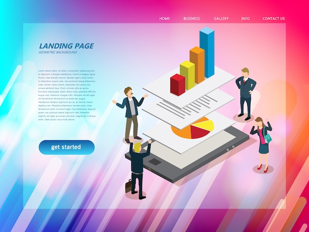 Business technology website landing page