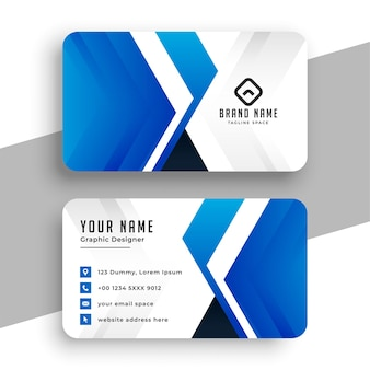 Business  template in blue geometric style