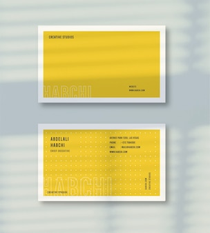 ビジネステンプレートカード