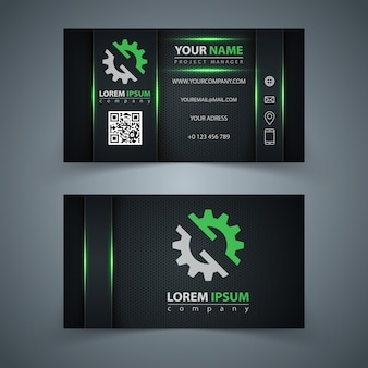 Business template card