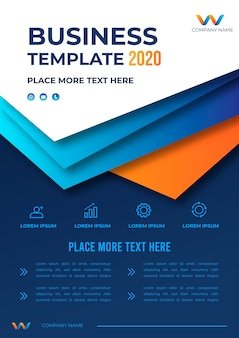 Business template design 2020