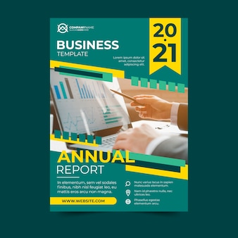 Business template design annual report