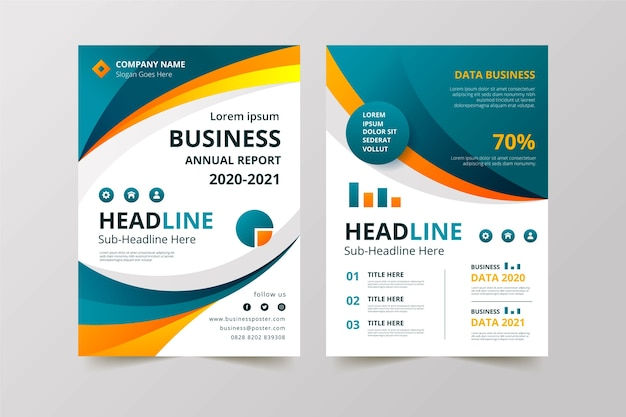 Business template design for company