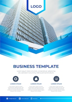 Business template design  with photo