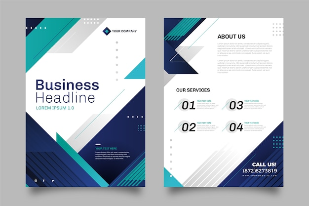 Business template design