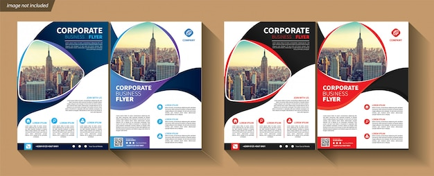 Business template for flyer corporate