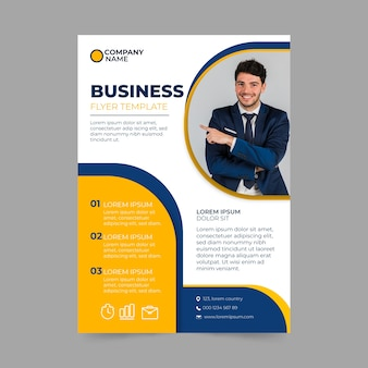 Business template flyer style