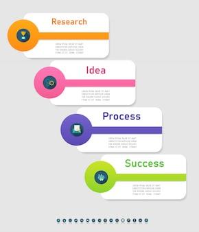 ビジネステンプレートインフォグラフィックグラフ要素。