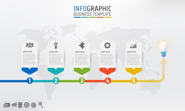 Business template infographic for presentation