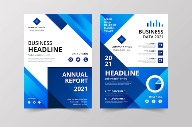 Business template style for company