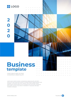 Business template style with photo