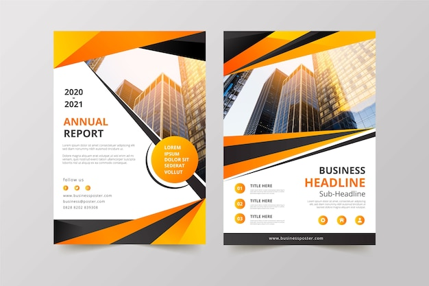 Business template with building photo