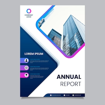 Business template with buildings