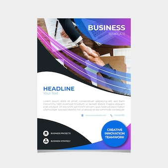 Business template with men shaking hands