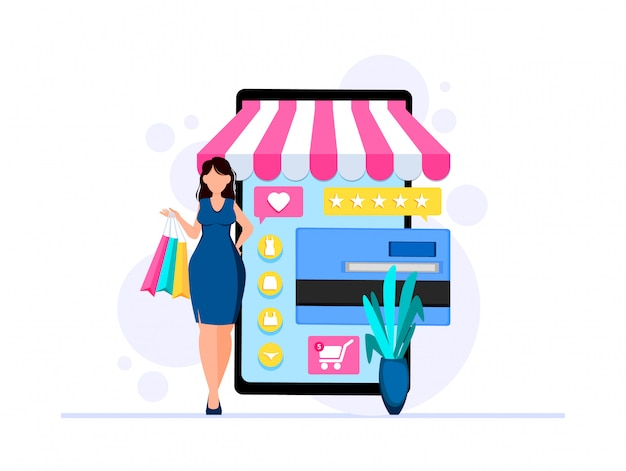 Business template with online store