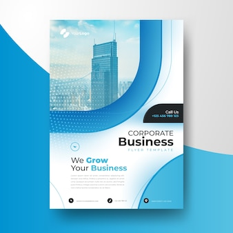 Business template with photo of building