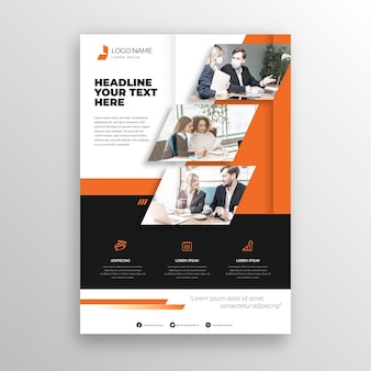 Business template with photo of coworkers