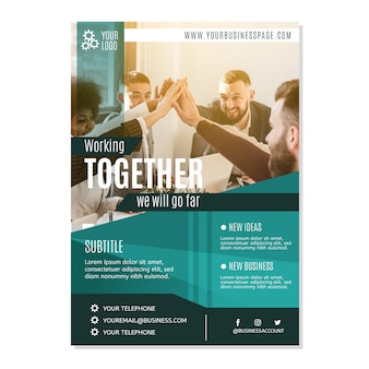 Business template with photo