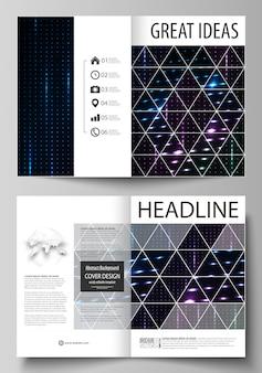 Business templates for bi fold brochure, flyer, booklet.