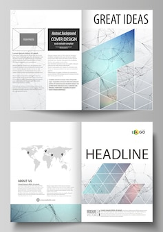 Business templates for bi fold brochure, flyer.
