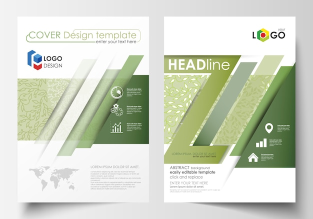 Business templates, brochure, flyer, annual report.