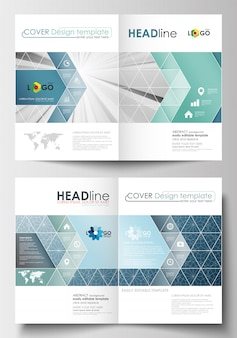 Business templates for brochure, flyer, booklet, report.