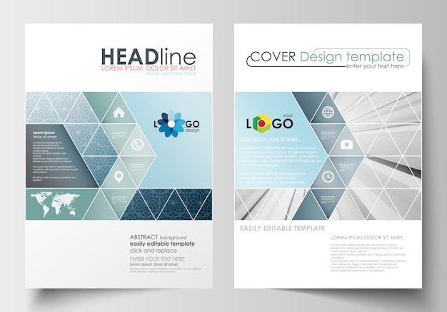 Business templates for brochure, flyer, report.